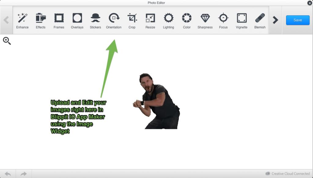 Blippit IO App Maker Image Editor