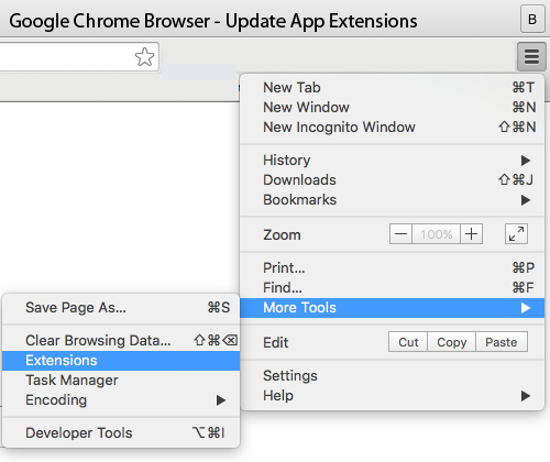 updating chrome ext