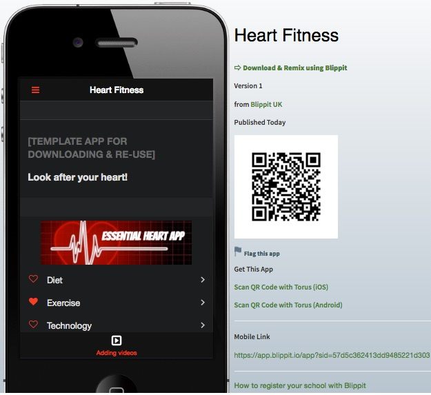 app template heart fitness