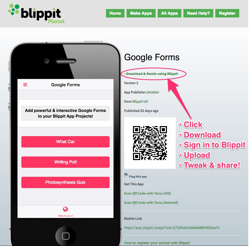 Planet Blippit Downloadable Apps